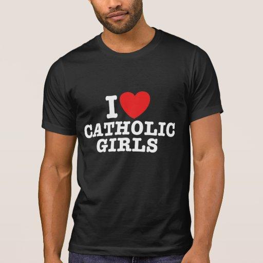 Amo a chicas católicos playera
