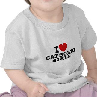 Amo a chicas católicos camiseta