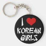 Amo a chicas coreanos llaveros personalizados