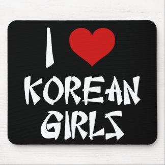 Amo a chicas coreanos tapete de raton