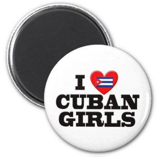 Amo a chicas cubanos imán de frigorífico
