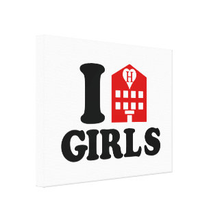 Amo a chicas del hotel impresión en lienzo