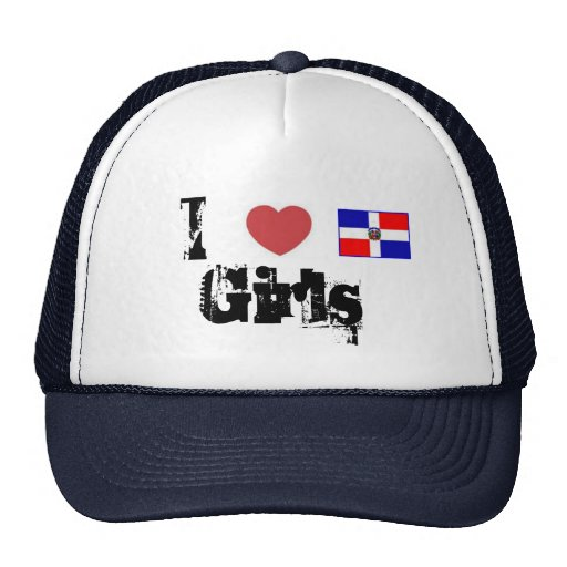Amo a chicas dominicanos gorro de camionero