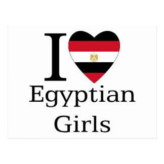 Amo a chicas egipcios tarjetas postales