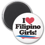 Amo a chicas filipinos iman de nevera