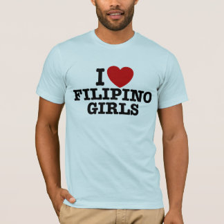 Amo a chicas filipinos playera