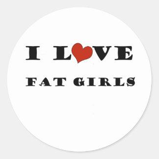 Amo a chicas gordos etiquetas