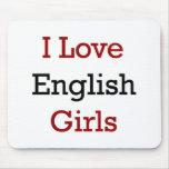 Amo a chicas ingleses tapete de ratón