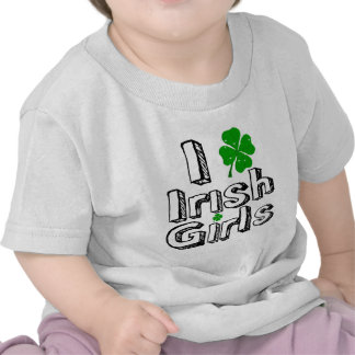 ¡Amo a chicas irlandeses Camiseta