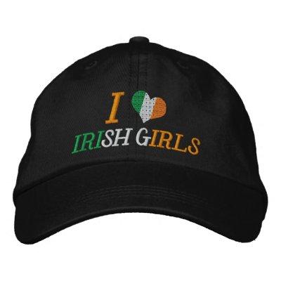 Amo a chicas irlandeses gorra de beisbol bordada