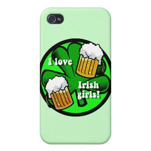 amo a chicas irlandeses iPhone 4 fundas