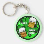 amo a chicas irlandeses llaveros