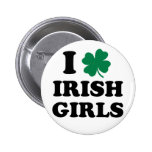 Amo a chicas irlandeses pin