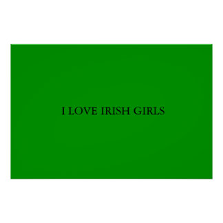 AMO A CHICAS IRLANDESES PÓSTER