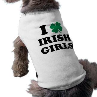 Amo a chicas irlandeses camiseta de perro