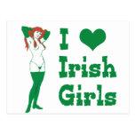Amo a chicas irlandeses tarjetas postales