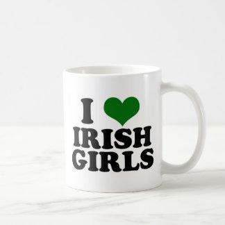 Amo a chicas irlandeses taza de café