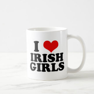 Amo a chicas irlandeses taza