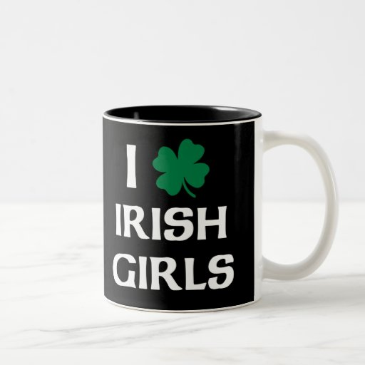 Amo a chicas irlandeses taza de café de dos colores