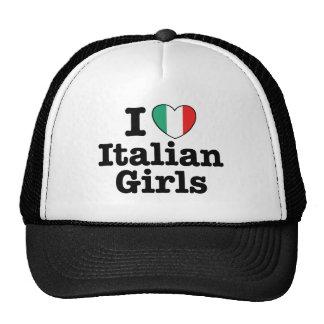 Amo a chicas italianos gorras