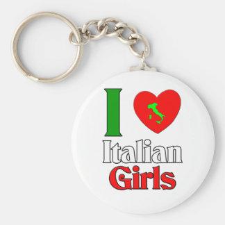 Amo a chicas italianos llavero redondo tipo pin