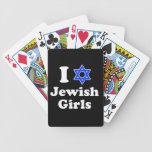 Amo a chicas judíos baraja cartas de poker