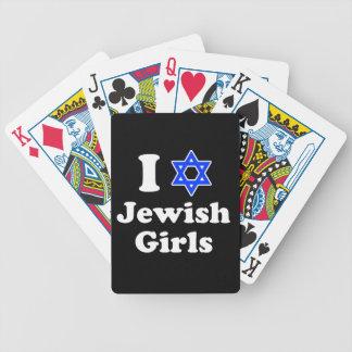 Amo a chicas judíos barajas de cartas