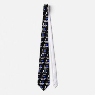 Amo a chicas judíos corbatas personalizadas