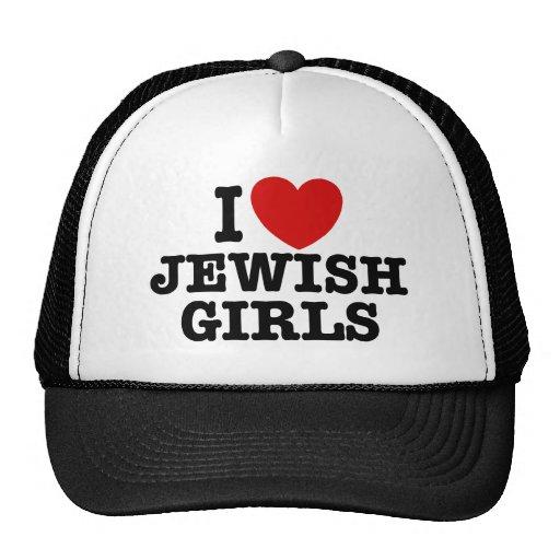 Amo a chicas judíos gorro de camionero