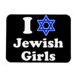 Amo a chicas judíos iman rectangular