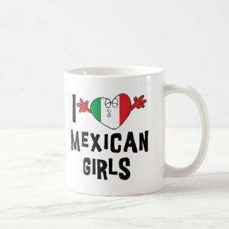 Amo a chicas mexicanos taza