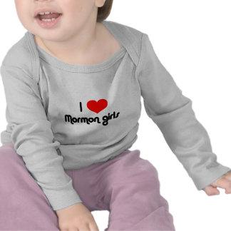 Amo a chicas mormones camisetas