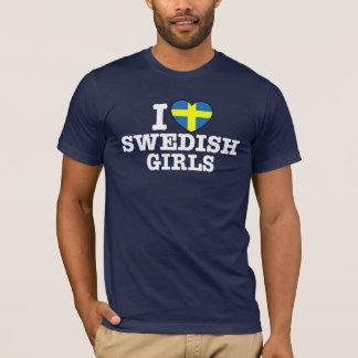 Amo a chicas suecos playera