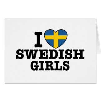 Amo a chicas suecos tarjeta
