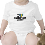 Amo a chicas suecos trajes de bebé