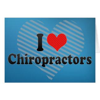 Amo a Chiropractors Tarjetón