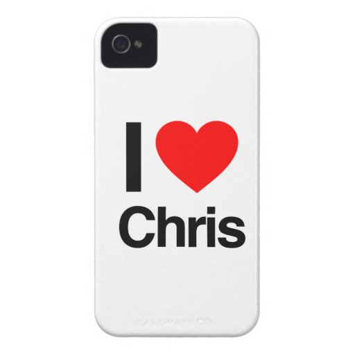 amo a Chris Case-Mate iPhone 4 Fundas