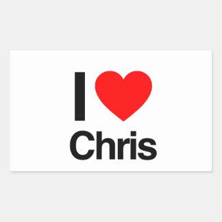 amo a Chris Rectangular Altavoz