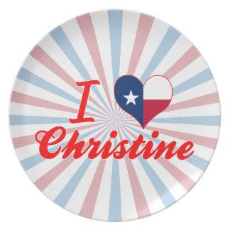 Amo a Christine Tejas Platos