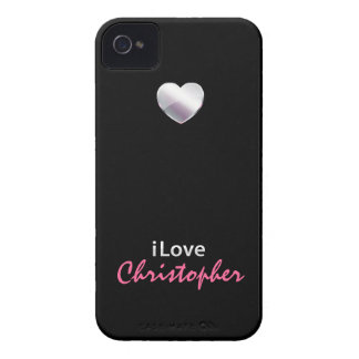 Amo a Christopher iPhone 4 Case-Mate Protectores
