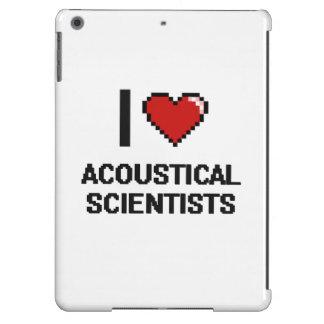 Amo a científicos acústicos funda para iPad air