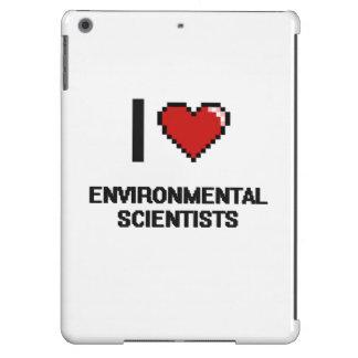 Amo a científicos ambientales funda para iPad air