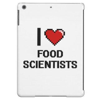 Amo a científicos de la comida funda para iPad air