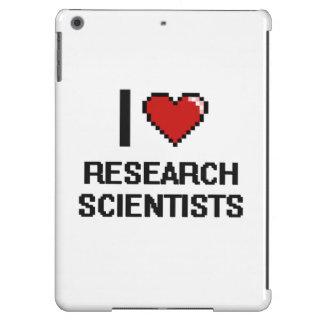 Amo a científicos de la investigación funda para iPad air