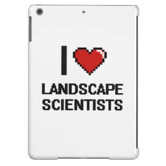 Amo a científicos del paisaje funda para iPad air