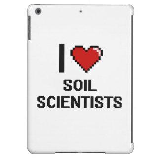 Amo a científicos del suelo funda para iPad air