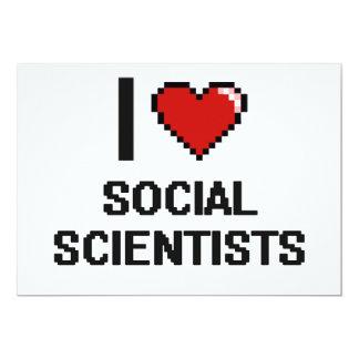 Amo a científicos sociales invitación 12,7 x 17,8 cm