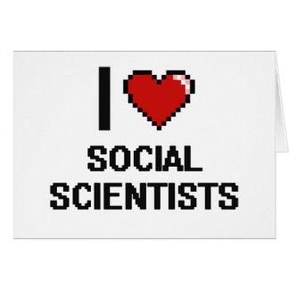 Amo a científicos sociales tarjeta pequeña