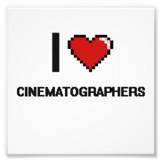 Amo a cinematógrafos arte fotografico