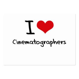 Amo a cinematógrafos plantilla de tarjeta de negocio